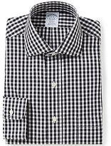 Brooks Brothers Regent-Fit Non-Iron Gingham Spread-Collar Dress Shirt