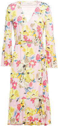 Etro Floral-print Stretch-jersey Wrap Dress