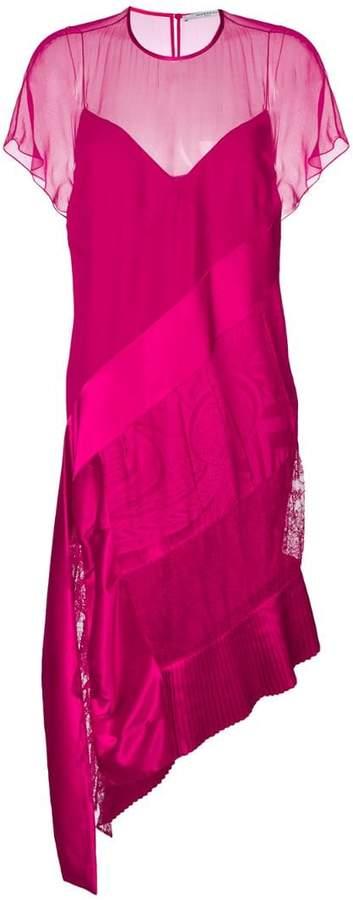 Givenchy layered asymmetric midi dress