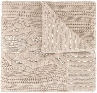 Ermanno Scervino Chunky Knit Scarf