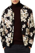 Topman Men's Floral Bomber Jacket