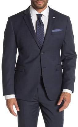 Original Penguin Blue Birdseye Two Button Notch Lapel Slim Fit Suit Separates Jacket