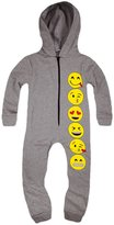 Jollyrascals Girls Full Length Zip Front Emoji Onesie