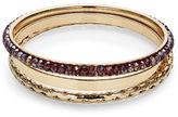 Expression Three-Piece Bead and Smooth Bangle Bracelet Set