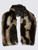 Marks and Spencer Faux Fur Marble Scarf