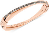 Michael Kors Pavé Crystal Push-Button Cuff Bracelet