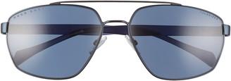 HUGO BOSS 61mm Polarized Aviator Sunglasses