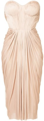 Maria Lucia Hohan gathered pleated design dress