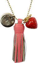 Undercover Personalised Strawberry Charm Necklace And Tassel