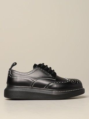 Alexander McQueen Mcq Mcqueen Derby In Leather With Brogue Motif