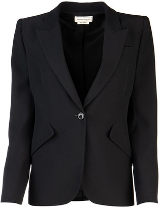 Alexander McQueen Single Button Closure Blazer