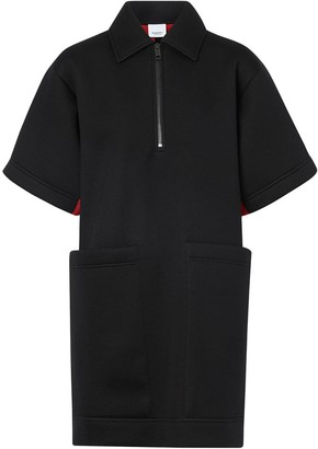 Burberry Two-tone Neoprene Mini Dress