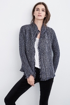 Flynn Fringe Tweed Knit Cardigan