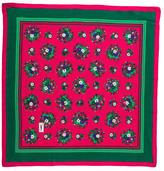 Saint Laurent Floral Silk Scarf
