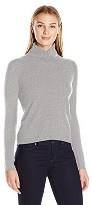 Lark & Ro Amazon Brand Women's 100% Cashmere Soft Boxy Turtleneck Sweater