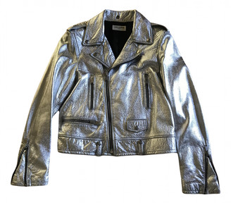 Saint Laurent Silver Leather Jackets