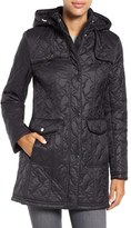 Larry Levine Women's Hooded Quilted Coat