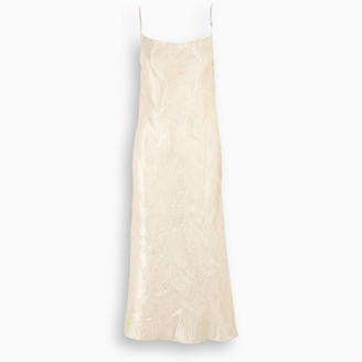 ART DEALER Gold Rachel slipdress