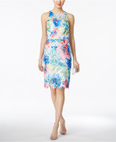Betsey Johnson Printed Floral-Lace Sheath Dress