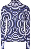 Mary Katrantzou Printed Stretch-jersey Top - Blue