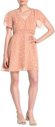Madewell Star Shower Ruched Waist Mini Dress