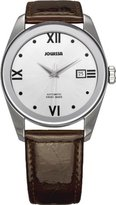 Jowissa Women's J4.054.M Monte Carlo Stainless Steel Silver Dial Brown Leather Automatic Date Watch