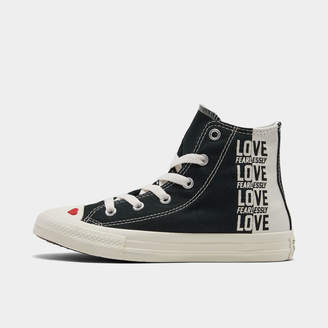 Converse Girls' Little Kids' Chuck Taylor All Star Love High Top Casual Shoes
