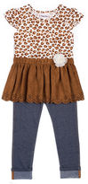 Little Lass 2-pc. Suede Cheetah Set - Toddler Girls 2t-4t