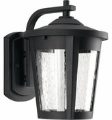 "575 Denim Meador Outdoor Wall Lantern Alcott Hill Fixture Finish: Black, Size: 7.88"" H x W x 7.5"" D"