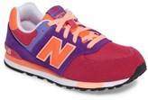 New Balance Girl's 574 Cut & Paste Sneaker