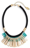 Adia Kibur Women's Spike Stone Statement Bib Necklace