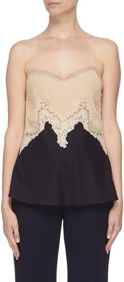 Gabriela Hearst 'Smith' lace panelled camisole top