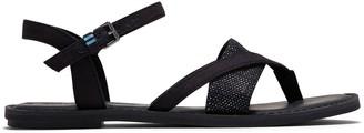 Toms Black Canvas and Foil Woven Women's Lexie Sandals