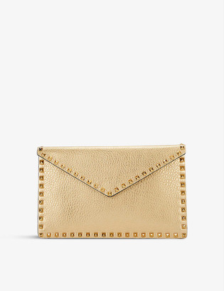Valentino Rockstud studded leather envelope clutch