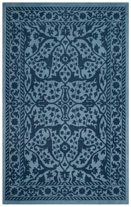 Safavieh Restoration Vintage Collection RVT102 Rug, Blue/Dark Blue, 4'