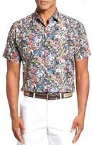 Paul & Shark Men's Regular Fit Floral Sport Shirt