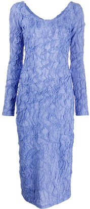 Kenzo Textured Midi Dress