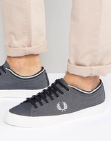 Fred Perry Kendrick Tipped Cuff Chambray Plimsolls