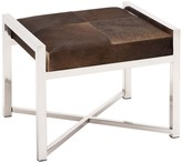 UMA Silver/Brown Steel Genuine Calf Hair Leather Stool