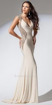 Tony Bowls Le Gala Embellished Illusion Open Back Evening Dress