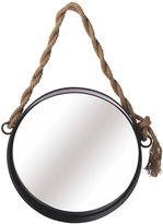 Asstd National Brand Medium Wall Mirror with Twisted Rope Hanger