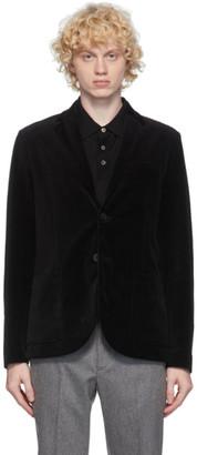 Harris Wharf London Black Velvet Blazer