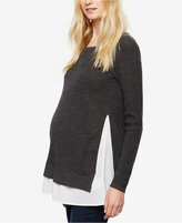 Design History Maternity Layered-Look Sweater