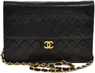 Chanel Black Quilted Leather Classic Shoulder Flap Bag