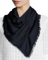 Gucci Ghili Fringed Wool/Silk Scarf