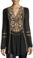 Tolani Lolita Embroidered Chiffon Tunic