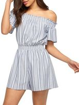 Miss Selfridge Stripe Bardot Playsuit