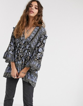 Free People moonlight dance printed top