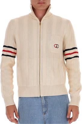 Gucci Guccci Interlocking G Knit Zipped Sweater