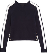 J.Crew Zoinks Striped Cashmere Sweater - Midnight blue